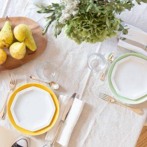 duo assiettes en porcelaine blanches de limoges
