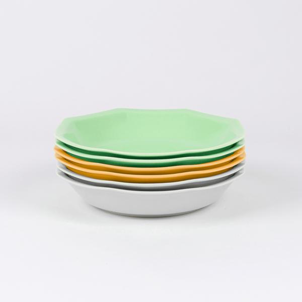 Pack de 6 assiettes creuses en porcelaine française